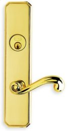 Exterior Traditional Mortise Entrance Lever Lockset with Plates - Solid Brass in MS (MaxSteel PVD Plated) Product Image