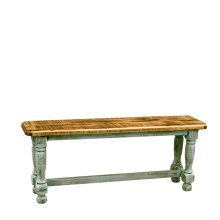 Turquoise Washed Bench