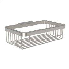 """Satin Nickel 8"""" Deep Toiletry Basket"""