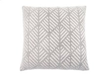 "PILLOW - 18""X 18"" / LIGHT GREY GEOMETRIC DESIGN / 1PC"