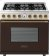Additional Range DECO 36'' Classic Brown dual color, Bronze 6 gas, electric oven, self-clean