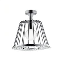 Chrome 1-Jet LampShower designed by Nendo with Ceiling Showerarm
