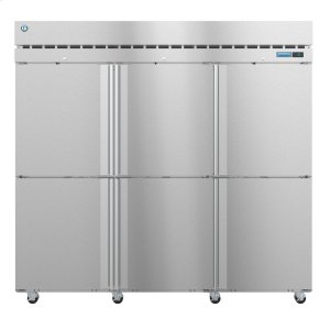 HoshizakiR3A-HS, Refrigerator, Three Section Upright, Half Stainless Doors with Lock