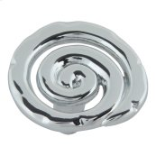 Scroll Knob 1 1/2 Inch - Polished Chrome