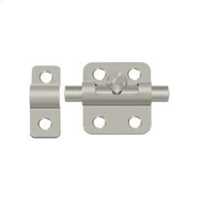 "2"" Barrel Bolt - Brushed Nickel"