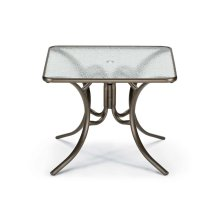 """Obscure Acrylic Top Table 36"""" Square Dining Table w/ hole"""