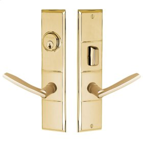 Non-Lacquered Brass Houston Escutcheon Entrance Set