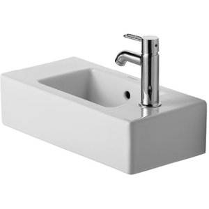 Vero Furniture Handrinse Basin 2 Pre-marked Faucet Holes Left And Right For 2 Faucets
