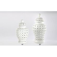 Small Florentine White Vase 15H 6-pack