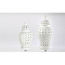 Small Florentine White Vase 15H 6-pack
