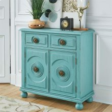2 Drawer 2 Door Accent Cabinet