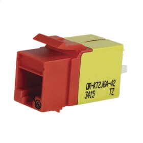 Category 6a Keystone Jack, Lacing Cap Termination, Red