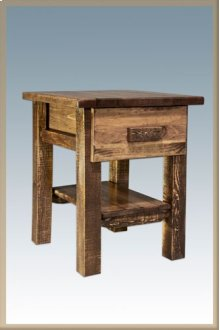 Homestead Nightstand with Drawer - Stained and Lacquered