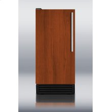 Built-in NSF-listed automatic defrost icemaker with integrated door frame to accept full overlay panels