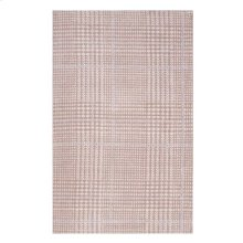 Kaja Abstract Plaid 5x8 Area Rug in Ivory, Cameo Rose and Light Blue