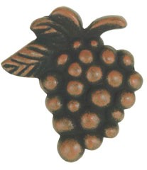 Vineyard Grapes Knob 2 Inch - Rust