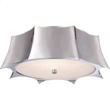 Visual Comfort AH4027PN-FG Alexa Hampton Peter 2 Light 16 inch Polished Nickel Flush Mount Ceiling Light