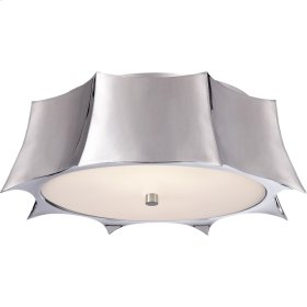 Visual Comfort AH4027PN-FG Alexa Hampton Peter 2 Light 16 inch Polished Nickel Flush Mount Ceiling Light