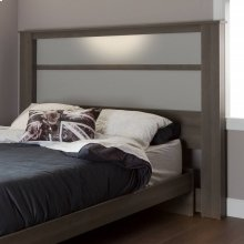 Headboard with Lights - Gray Maple