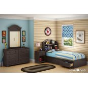 Mates Bed With Bookcase Headboard Set - 39''