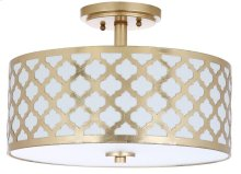 Kora 3 Light 15-inch Dia Gold Flush Mount - Gold Shade Color: Off-White