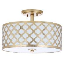 Kora 3 Light 15-inch Dia Gold Flush Mount - Gold