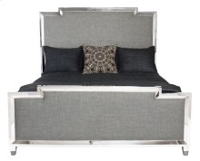 California King-Sized Criteria Metal Upholstered Panel Bed
