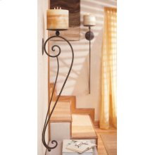 Long Scroll Pillar Wall Sconce Pair.