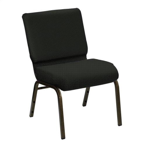 Wellington Coal Upholstered Church Chair - Gold Vein Frame