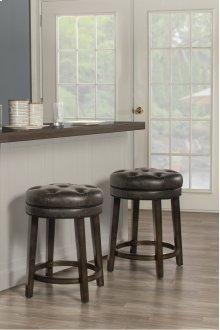 Krauss Backless Swivel Counter Stool - Charcoal Gray