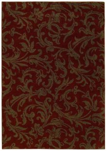 """Cayenne Red Diva Rectangle Rug (5' 5"""" X 7' 8"""")"""