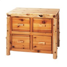 Four Drawer File Cabinet - Natural Cedar