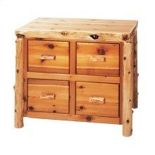 Four Drawer File Cabinet - Natural Cedar