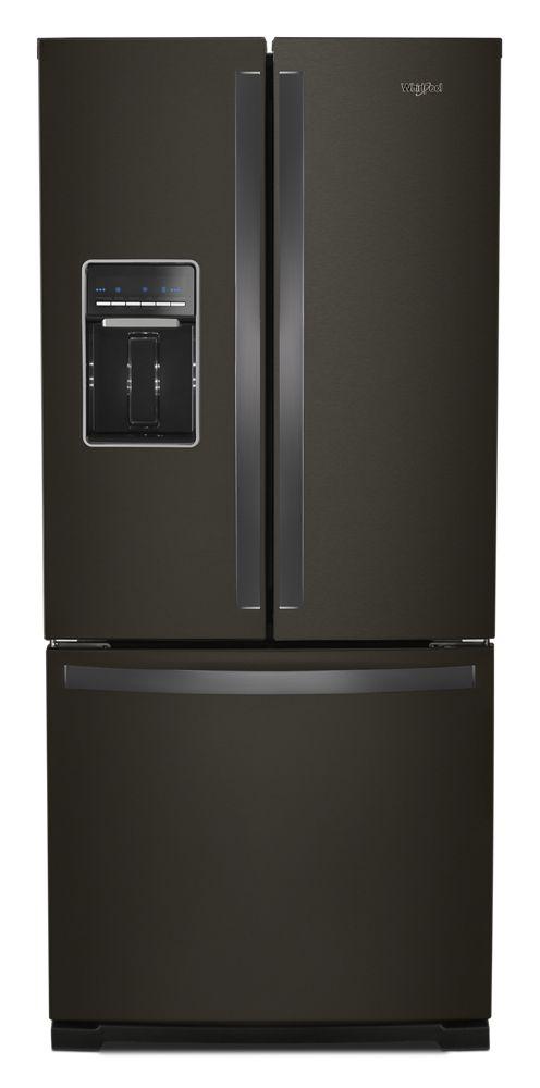 Wrf560sehv Whirlpool 30 Inch Wide French Door Refrigerator 20 Cu Ft Fingerprint Resistant Black Stainless Hahn Appliance Warehouse