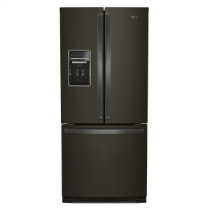 30-inch Wide French Door Refrigerator - 20 cu. ft. - FINGERPRINT RESISTANT BLACK STAINLESS