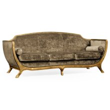 Empire Style Sofa (Gold Leaf/Velvet Calico)