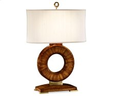 Porthole Zebrano Table Lamp