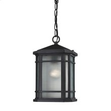 Lowell 1-Light Outdoor Hanging Lantern in Matte Black