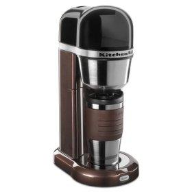 KitchenAid® Personal Coffee Maker with 18 oz Thermal Mug - Espresso