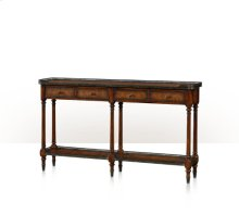 The Louis XVI Leather Console - Acacia And Leather
