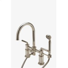 Henry Exposed Deck Mounted Tub Filler with Handshower and Metal Lever Handles STYLE: HNXT50