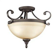 Monroe 2 Light Semi Flush with LED Bulbs Olde Bronze®