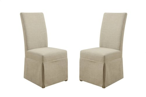 Emerald Home Bel Air Parsons Chair Set Up Beige Fabric D311-23su