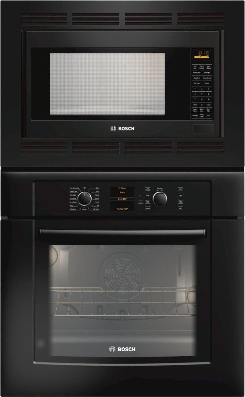 """30"""" Combination Wall Oven 500 Series - Black HBL5760UC Hidden. Bosch Logo"""