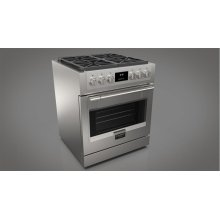 """30"""" All Gas Pro Range - stainless Steel"""