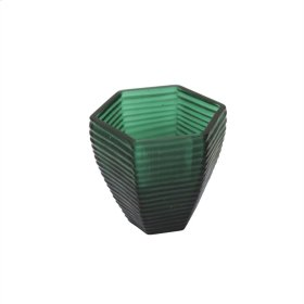 "5"" Grooved Glass Vase, Green"