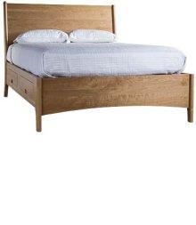 Brancusi Sleigh Storage Bed - King