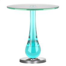 Draper Accent Table, AQUA, SIDE