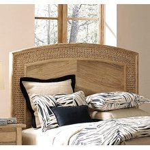 Arc Seagrass King Headboard