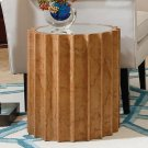 Reflective Column Side Table-Olive Ash Burl Product Image